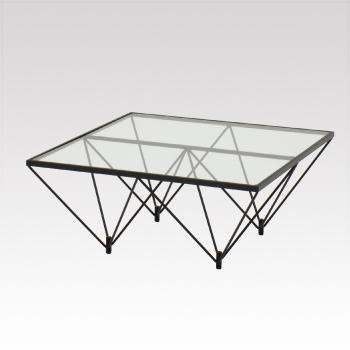 D-T35 ガラステーブル 800角 H350