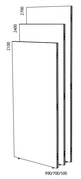 BEA-W990×2100CS ビューティフルウォール チャンネルサポート付 H2100
