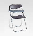 R-C14 メモ台付椅子 ブラウン W520・H775