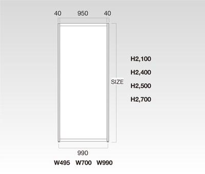 OCT-P467×800 オクタノルムパネル 白 H900 W500 ※467×800